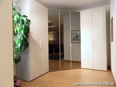 Simple walking closet mirror doors