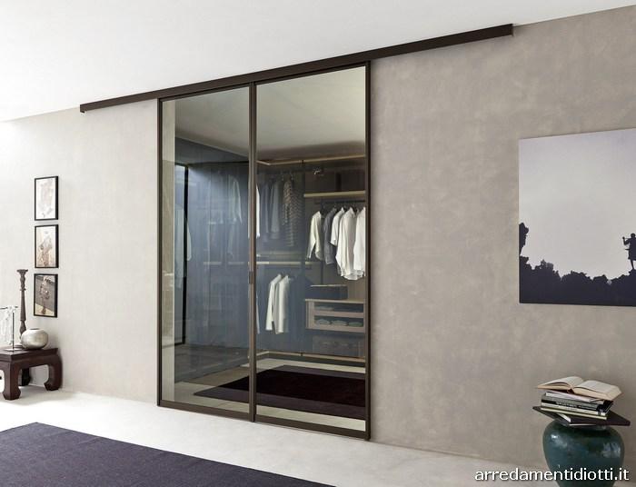 Cabina armadio e armadio componibile kali diotti a f arredamenti - Porte scorrevoli per cabina armadio ...