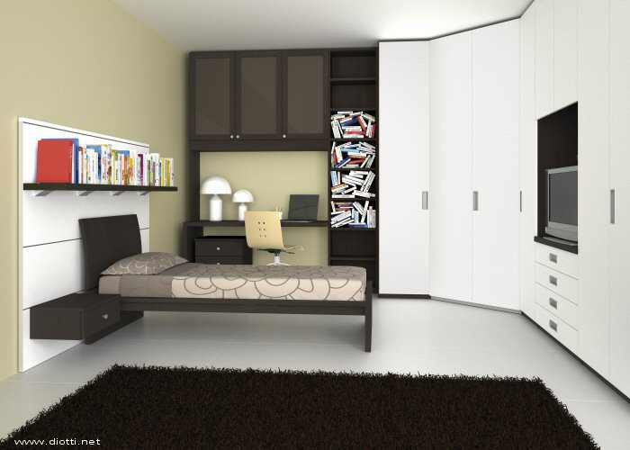 Beautiful Camera Da Letto Con Cabina Armadio Ad Angolo Images ...