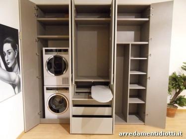 L 39 armadio che si trasforma in zona lavanderia stireria e ripostiglio dove riporre piccoli - Mobili da ripostiglio ...