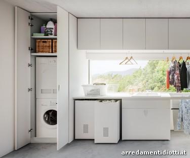 Angolo Lavanderia Stireria : L armadio che si trasforma in zona lavanderia stireria e
