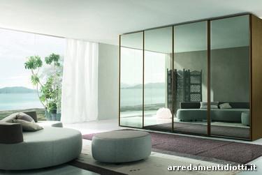 Armadio dream scorrevole con anta specchio diotti a f arredamenti - Porte scorrevoli a specchio ...