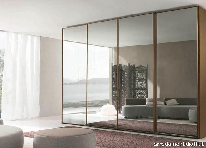 Armadio dream scorrevole con anta specchio diotti a f arredamenti - Armadio scorrevole specchio ...