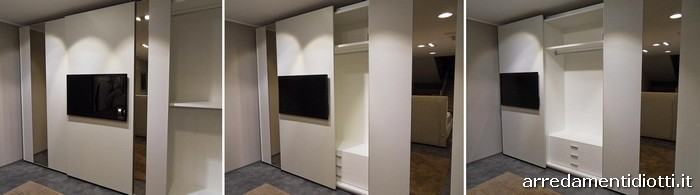 Armadio Scorrevole Porta Tv Mindland : Armadio con ante scorrevoli in prezzo affare un anta