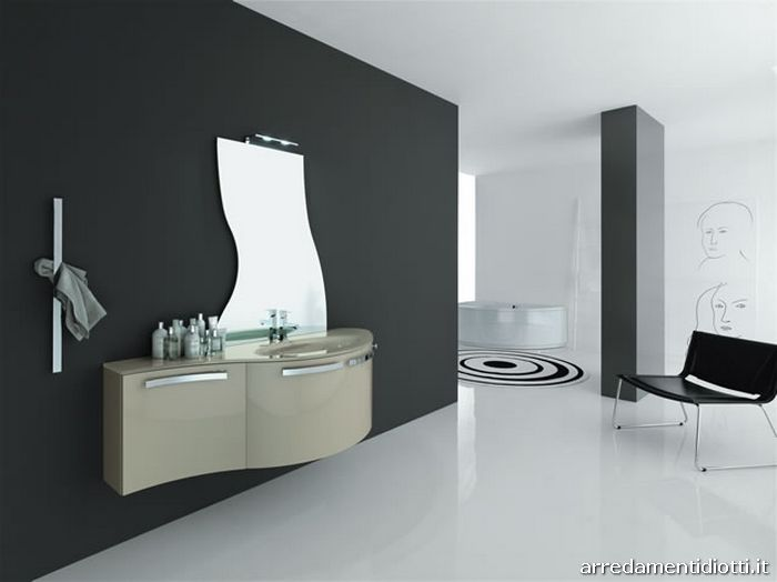 Hanging composable bathroom furniture. - DIOTTI A&F Italian Furniture ...