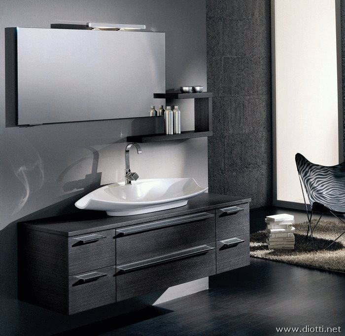 bagno moderno sospeso modello osaka - diotti a&f arredamenti - Foto Arredo Bagno Moderno