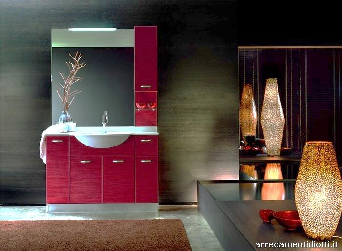 Accessori Bagno Bordeaux : Arredo bagno rosso bordeaux le migliori idee per la tua design