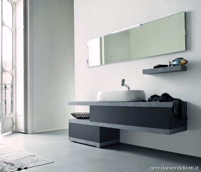 Bagno b201 moderno finitura larice diotti a f arredamenti - Immagini mobili bagno moderni ...