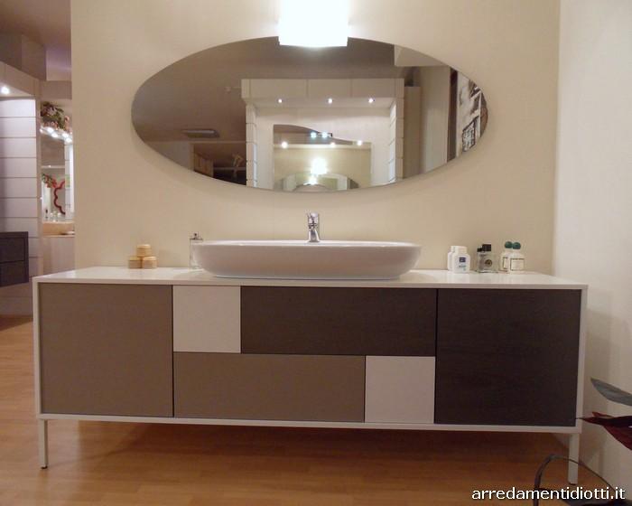 Bagno moderno b201 in appoggio diotti a f arredamenti - Mobili da bagno mondo convenienza ...