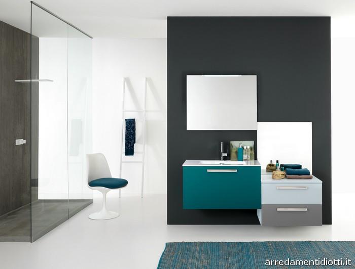 Vasto programma di elementi componibili che permette l 39 ideazione di composizioni per bagno - Linea azzurra mobili ...