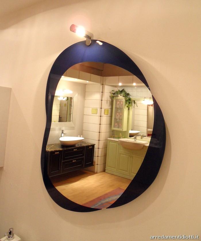 Arredobagno sospeso in grigio e blu tomtit diotti a f arredamenti - Specchiera bagno blu ...