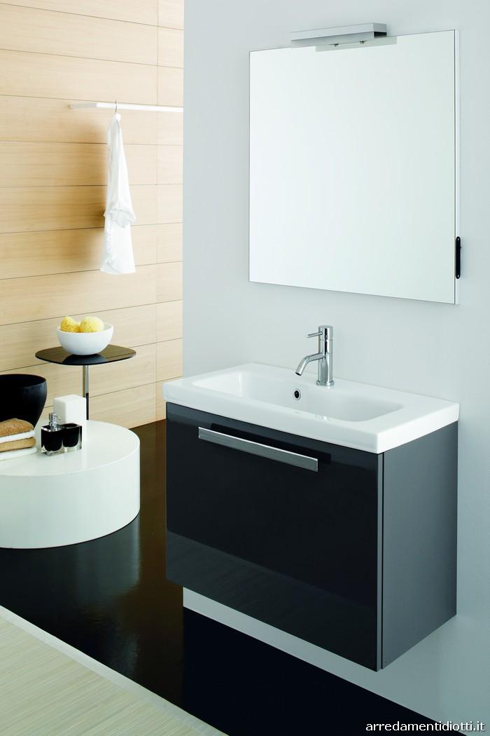 Arredo bagno nero lucido design casa creativa e mobili - Bagno arredo moderno ...