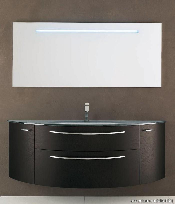Casa moderna, roma italy: mensola lavabo bagno