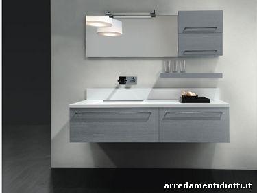 La maniglia definisce una collezione di arredobagno lineare ed elegante long diotti a f - Azzurra mobili da bagno ...
