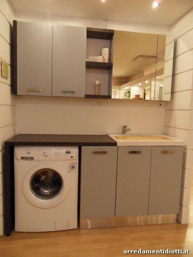 Bagno con lavanderia componibile diotti a f arredamenti - Bagno lavanderia ...