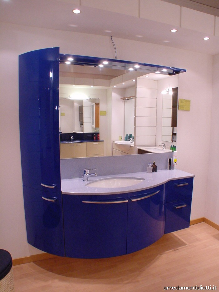 Piastrelle bagno blu lucido [tibonia.net]