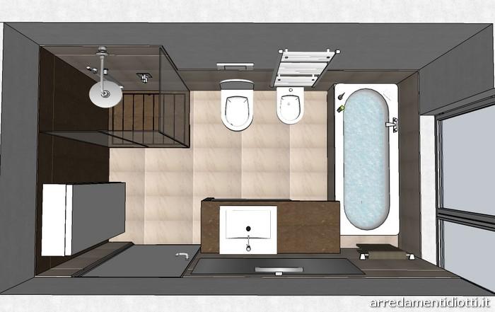 Arredobagno shangai con piano in marmo diotti a f arredamenti - Termoarredo per bagno 6 mq ...