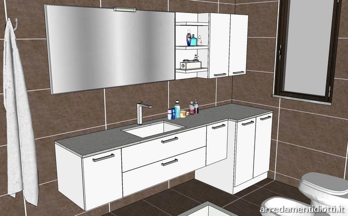 Mobili bagno nascondi lavatrice design casa creativa e for Arredo bagno bianco