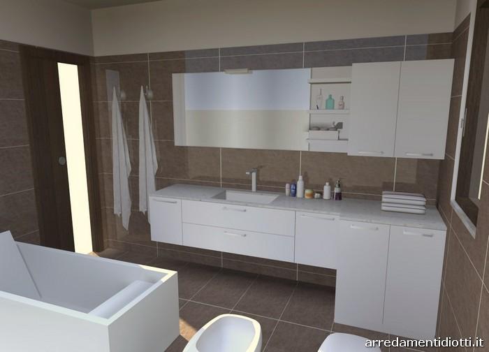 arredo bagno moderno bianco condor - diotti a&f arredamenti - Arredo Bagno Lavatrice