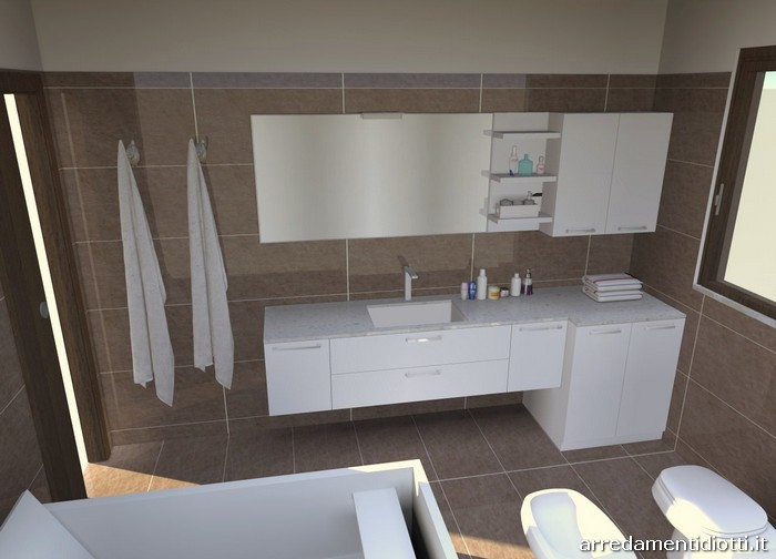 Arredo bagno moderno bianco condor diotti a f arredamenti for Arredo bagno a milano