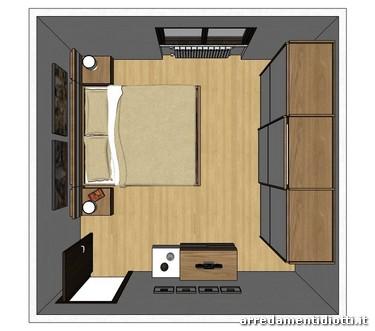 Gruppo letto ego armadio diva diotti a f arredamenti for Arredare camera da letto di 10 mq