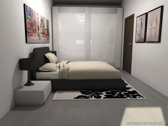 Camera letto imbottito zelig armadio quadra diotti a f arredamenti - Camera da letto mansarda ...