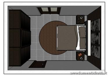 Letto alix imbottito e armadio baj scorrevole diotti a f arredamenti - Camera da letto con letto rotondo ...