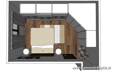 Camera regency con comodini circus diotti a f arredamenti for Armadio angolare camera da letto