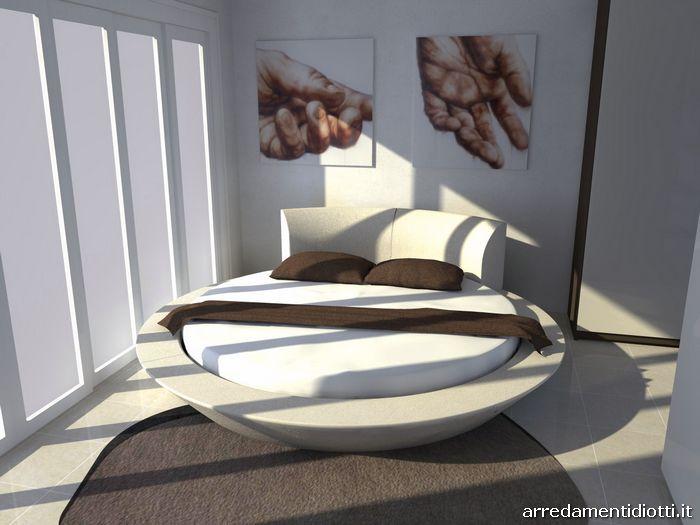 Camera matrimoniale con letto rotondo Miami - DIOTTI A&F Arredamenti