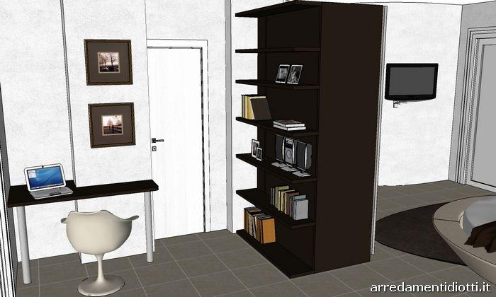 Camera matrimoniale con letto rotondo miami diotti a f - Angolo studio in camera da letto ...