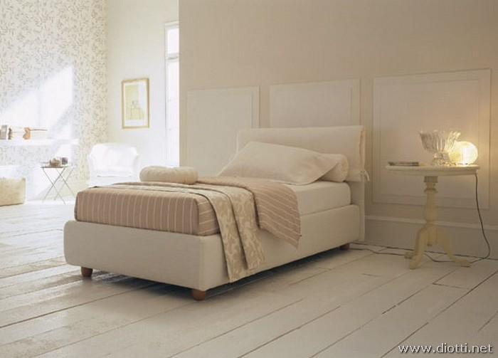 Vivian bed in fabric - DIOTTI A&F Italian Furniture and Interior Design
