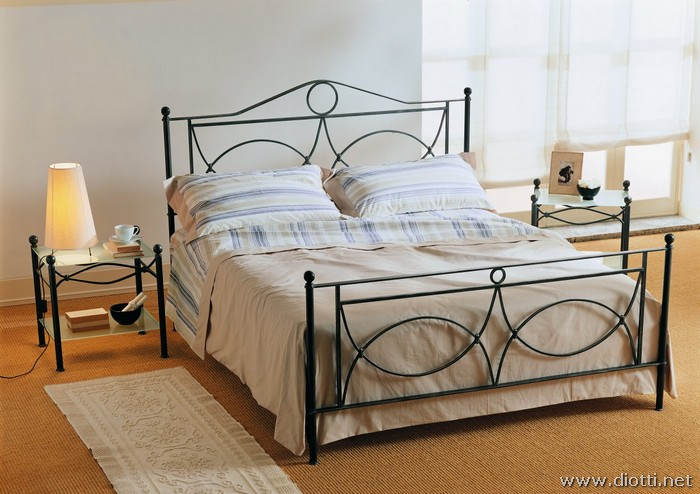 Amadeus wrought iron bed