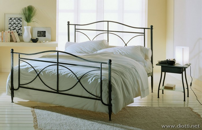 Morrison wrought forged iron bed