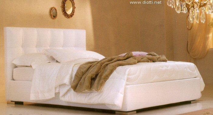 Letto imbottito max capitonn diotti a f arredamenti - Camere da letto in pelle ...