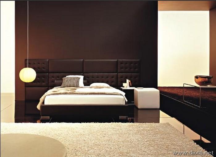 Letti sommier con boiserie marlene diotti a f arredamenti for Planimetrie della camera da letto della suite matrimoniale