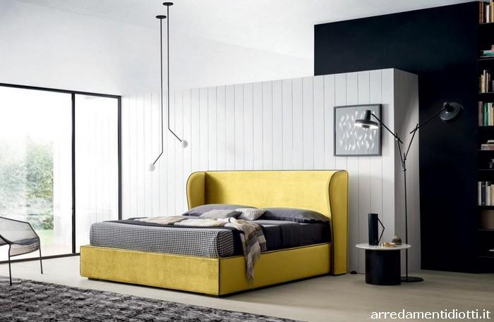 Gruppo Letto Design Moderno To Be Bonaldo : Letto matrimoniale testiera arrotondata brando