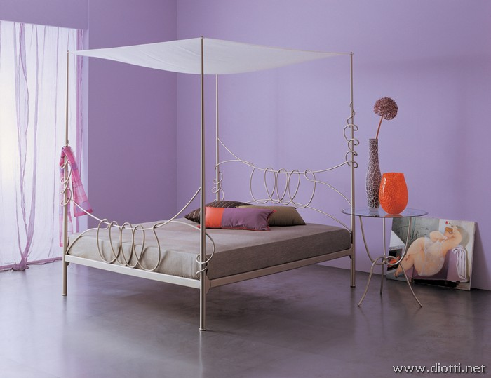 Letto A Baldacchino 1 Piazza.Irony Collection Of Modern Wrought Iron Beds Diotti A F Italian