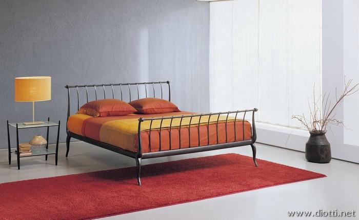 Parisienne letto ferro battuto alluminio