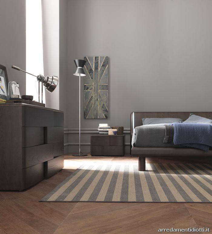 Camera da letto in frassino wengè - DIOTTI A&F Arredamenti