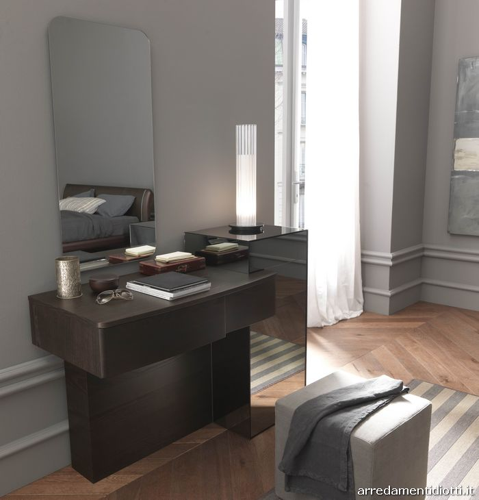 Camera da letto in frassino weng diotti a f arredamenti - Consolle camera da letto ...