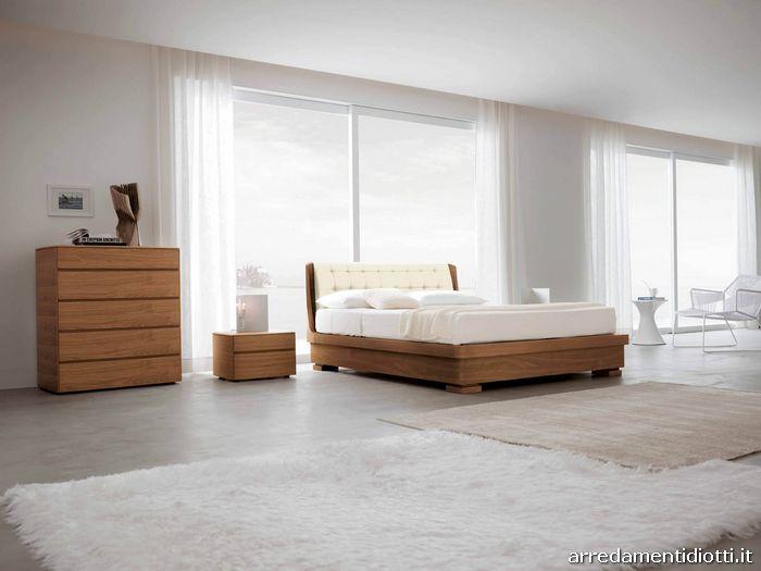 Orio eco-leathe wood bed