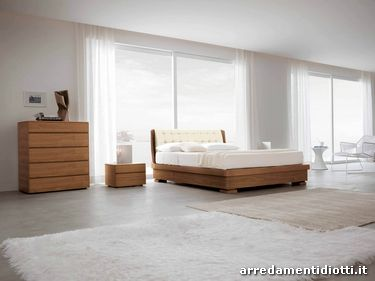 Orio eco-leathe wood bed