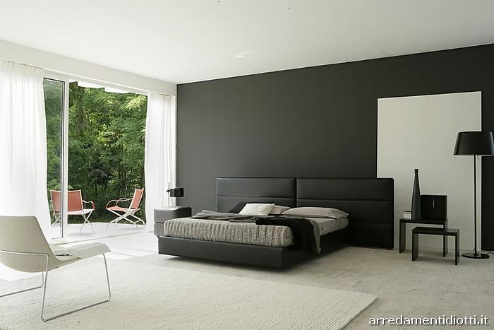 Camera da letto moderna nera for Camera letto nera