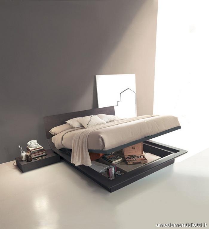 Letto con contenitore basso quarantacinque diotti a f for Camere da letto basso costo