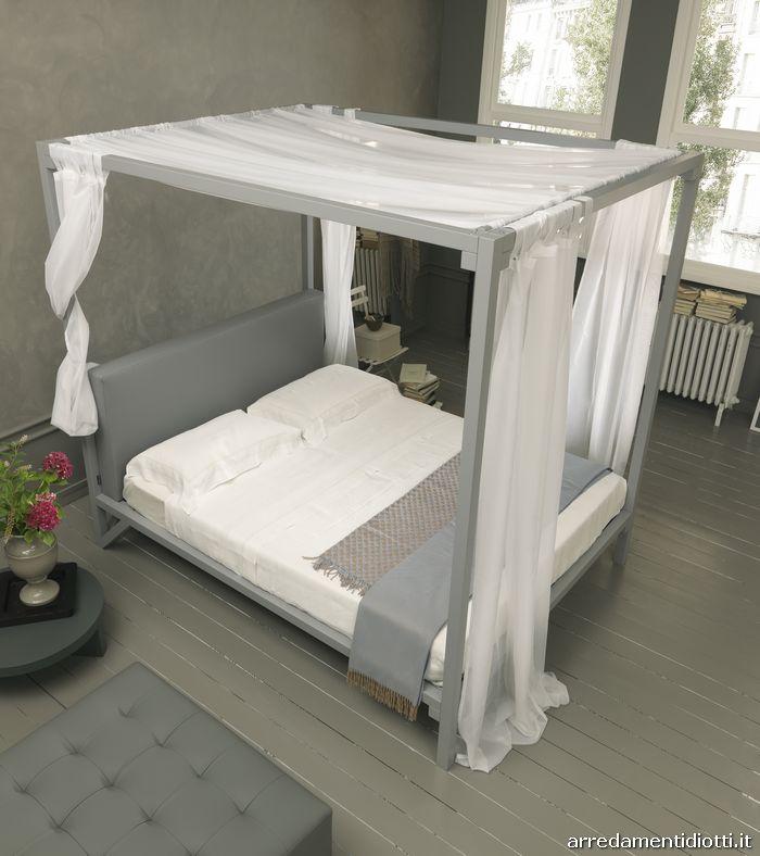 baldacchino letto nuziale shabby chic bianco letto ...