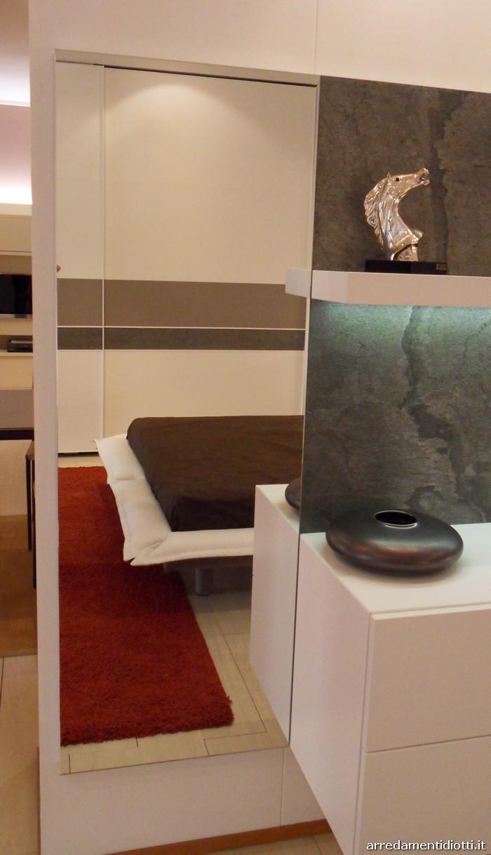 Gruppo letto Stone Notte con pannello in pietra naturale - DIOTTI A&F Arredamenti