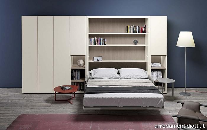 Sistema caratterizzato dalla possibilit di avere un divano che scompare sotto ad un vero letto - Divano letto ribaltabile ...
