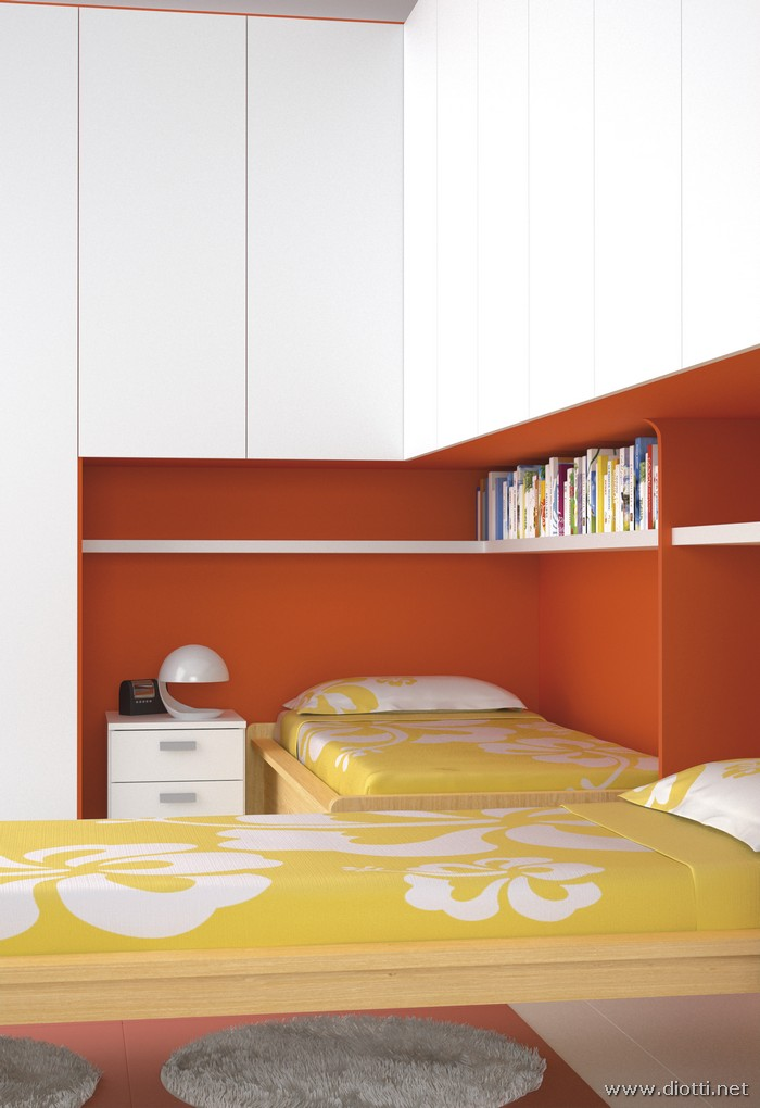 Corner bridge kids bedroom - DIOTTI A&F Italian Furniture and Interior ...