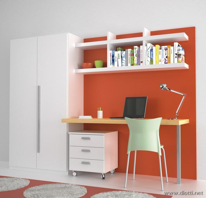 Young-scrittoio-rovere-laccato-arancio-armadio-cassettiera-big