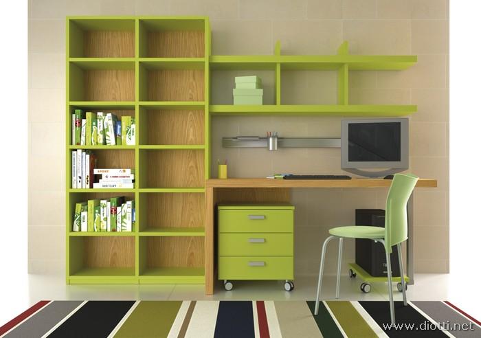 Young-libreria-scrittoio-cassettiera-laccato-rovere-big